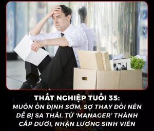 Tuổi 35 thất nghiệp là hậu quả của tuổi 25 an nhàn