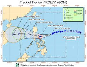 Thông tin cơn bão Goni sẽ đổ bộ vào Philippines vào ngày mai